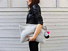 Handtasche - Strick Clutch XXL - ein einzigartiges Produkt von Nudakillers auf DaWanda