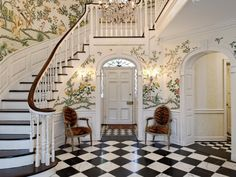Entry Foyer Wallpaper : Amazing wallpaper favorite spaces