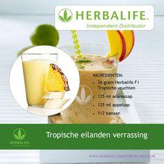 """Herbalife shake recept """"tropische eilanden verrassing"""""""