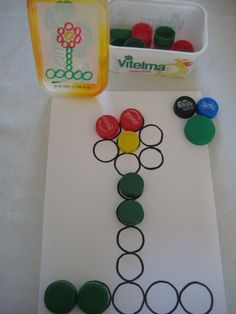 figuur naleggen, je mag de kleur zelf kiezen