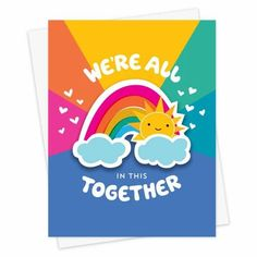 Rainbow Birthday, It's Your Birthday, Desing Inspiration, Cool Stationery, Sending Good Vibes, Rainbow Card, Baby One More Time, Paper Owls, Retro Futuristic