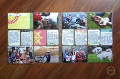 Project life - love this idea of a scrapbook page for every week.