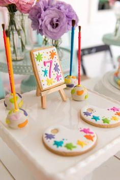 Birthday Cupcakes Rainbow Kids 45 Ideas For 2019 6th Birthday Parties, Birthday Cupcakes, Art Birthday Cake, 7th Birthday, Art Party Cakes, Kids Art Party, Kids Bday Party Ideas, Kunst Party, Art Themed Party
