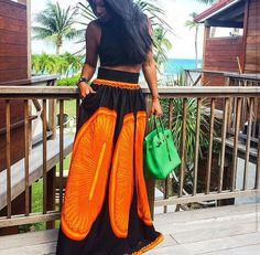 African Print Maxi Skirt ~Latest African Fashion, African Prints, African fashion styles, African clothing, Nigerian style, Ghanaian fashion, African women dresses, African Bags, African shoes, Kitenge, Gele, Nigerian fashion, Ankara, Aso okè, Kenté, brocade. ~DK