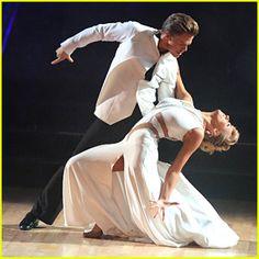 "Dancing with the Stars - Derek Hough & Nastia Liukin tango to Calvin Harris' ""Summer"" - Season 20 - week 6 - spring 2015 - score - 9+8+8+9 = 34"