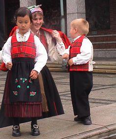 Rondastakk og rutaliv har vært brukt i Norge siden 1830 årene. Denne er fra lom i Gudbrandsdalen Stoffet (stakk/liv og vest) er vevet på Gudbrandsdalen Uldvarefabrikk. Kurs cd/video er tigjengelig på disse bunadene! #bunad