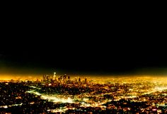 Los Angeles at night from the Griffith Park.