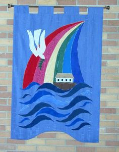 Second in set of banners depicting how God's grace is demonstrated through water, St. Andrew Presbyterian, Lake Charles, Louisiana