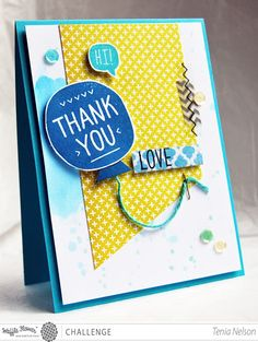 Jazzy Paper Designs: Hi! Thank You, Love-WFC Challenge