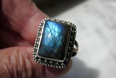 CLEARANCE sterling genuine labradorite by artsandadornments