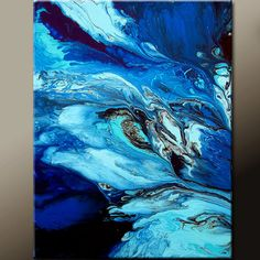 Breaking Free - NEw Abstract Canvas Art Painting 18x24 Original by wostudios on Etsy, $69.00