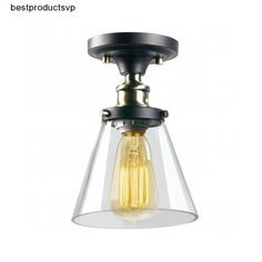 #Ebay #Flush #Mount #Ceiling #Light #Fixture #Vintage #Industrial #Metal #Glass #Brass #Brown #New #Unbranded #Industrial