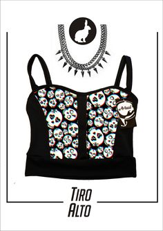 Art. RT-200 Top Nat -Estampado- color: Calaveras 3D talle: 1-2-3
