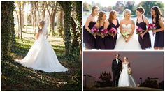 Caitlin looked spectacular in Allure! Her bridesmaid also looked great in our Bill Levkoff bridesmaids!
