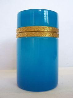 Antiques, Opaline Glass Dresser Box