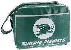 Logoshirt Unisex-Adult Nigeria Airways Cross-Body Bag:Amazon.co.uk: