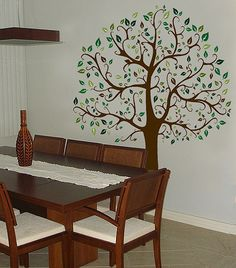 6 FT. BIG TREE BROWN & GREEN WALL DECAL Sticker Mural   eBay have this in my bedroom.