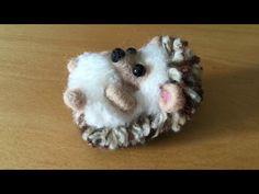 Erizo Pompón Y Lana Afieltrada. Pom Pom And Needle Felted Hedgehog. Time Lapse - YouTube