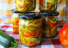 Healthy Tips, Pickles, Cucumber, Mason Jars, Menu, Stuffed Peppers, Dishes, Vegetables, Curry