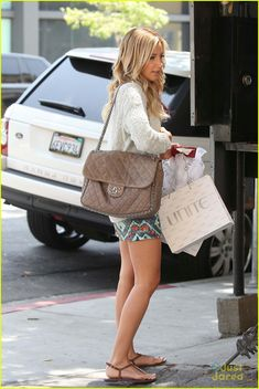 Ashley Tisdale and her Chanel Chain Around Flap