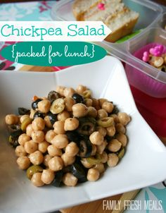 This protein packed salad is easy AND healthy.   What more could you ask for?  Easy Chickpea Salad Recipe