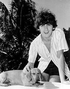 George Harrison and a daschund
