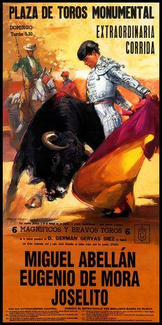 "Bullfighting - Plaza De Toros Monumental Barcelona #27 Canvas Art Poster 12""x 24"