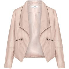 Zizzi Pink Plus Size Zip collar leather biker jacket ($100) ❤ liked on Polyvore featuring outerwear, jackets, tops, leather jackets, plus size, pink, plus size motorcycle jacket, leather biker jacket, womens plus size leather jackets and pink jacket