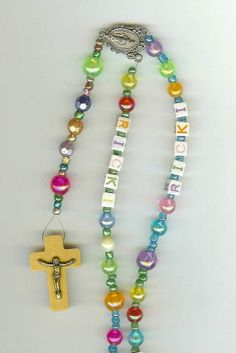 Personalized Children's Rosary by blessedbeadsbynann on Etsy, $25.00