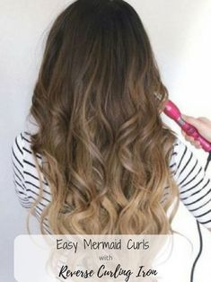 Choosing the Best Reverse Curling Wand - A Simple Guide Best Reverse Curling wand for Mermaid Curls Best Curling Wands, Curling Hair With Wand, Curling Wand Tips, Curling Iron Hairstyles, Cool Hairstyles, Mermaid Hairstyles, Wedding Hairstyles, Triple Barrel Curls, Best Hair Wand