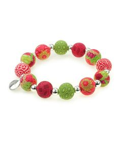 Take a look at this Holiday Bead Stretch Bracelet by JILZARA on #zulily today!