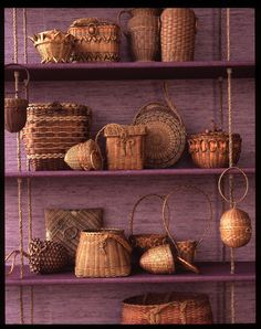 I love the beautiful and intricate weaving on these baskets.