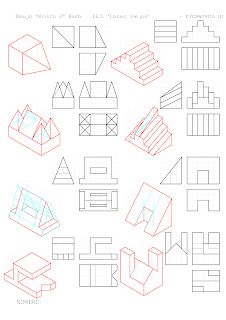 losmuertosdeldiedrico: PERSPECTIVA ISOMÉTRICA-croquis Drawing Lessons, Drawing Techniques, Isometric Drawing Exercises, Isometric Art, Orthographic Drawing, Drawing Sketches, Drawings, Disney Background, Geometric Drawing