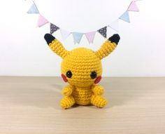 Who's excited for Pokemon GO?! Gotta catch 'em all! Make this cute Pikachu amigurumi with Vanna's Choice!