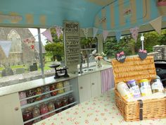 Inside of vintage ice cream van by Top Class Cars