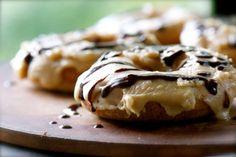 Vegan Chocolate and Caramel Doughnuts - The Vegan Food Blog