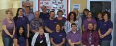 """Faculty and Staff at CCCTC held spirit week last week in conjunction with the Relay for Life's """"paint the town purple"""" to help raise money for the American Cancer Society. They concluded the week with purple day."""
