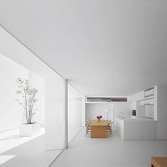 White Cave House Kanazawa, Japan by Takuro Yamamoto Architects architecture interior - Minimal Interior Design White Interior Design, Interior Design Inspiration, Interior And Exterior, Interior Decorating, Minimalist Interior, Minimalist Home, Loft Design, House Design, Muji Home