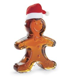 Maple Syrup In A Gingerbread Boy Glass Gift Bottle from Plow & Hearth Candy Christmas Decorations, Christmas Candy, Christmas Cookies, Holiday, Christmas Recipes, Christmas Ideas, Maple Syrup Bottles, Santa Claus Is Coming To Town, Last Christmas