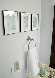 framed marbled paper