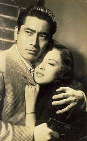 Toshiro Mifune and Yoshiko Yamaguchi in Hoyo, 1953.