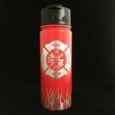 Firefighter, Fireman gift, Fireman, FiftyFifty, Water bottle, Coffee mug, Travel coffee cup, Fireman gift, Firefighter gift, Fireman birthday, Travel water bottle, Coffee cup. Our 18oz vacuum-insulated water bottles keep liquids hot or cold all day. This compact size fits easily in your backpack and holds enough to keep you hydrated at the dog park or while out running errands. Or fill it up in the morning with enough coffee to fuel you through your commute and most (or even all!) of your...