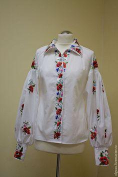Blusa bordada blusa floral vyshyvanka mexicano blusa campesina