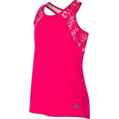 Girls 7-16 New Balance Fashion Performance Racerback Tank Top, Girl's, Size: 10-12, Dark Pink