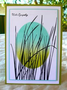 Nice grasses with oval masked window and sponging. Inspired by Nature and Teeny Tiny Wishes.
