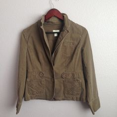 LOFT petite Ends above the hips. Has small whit spot on the left side of the jacket. Still in great condition LOFT Jackets & Coats