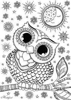 Owl Coloring Pages For Grown Ups Colouring Animal Mandala