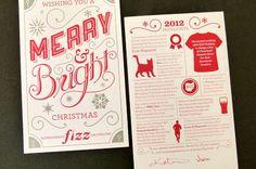 2012 Fizz Christmas Cards