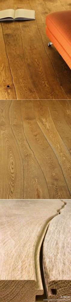 Curved wood floor