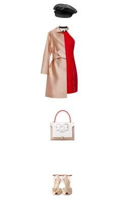 """""""Hot Red Dress"""" by toinettetoy ❤ liked on Polyvore featuring Marc Jacobs, Charlotte Olympia, Paule Ka, women's clothing, women, female, woman, misses, juniors and reddress"""